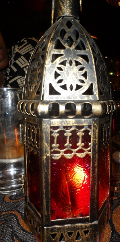 The candle lamp on every table..... I thought it was cute.