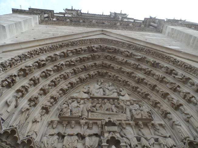 Entrance to Notre Dame, Paris, France