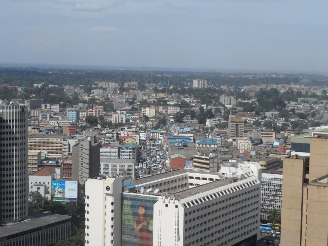 A view of downtown Nairobi