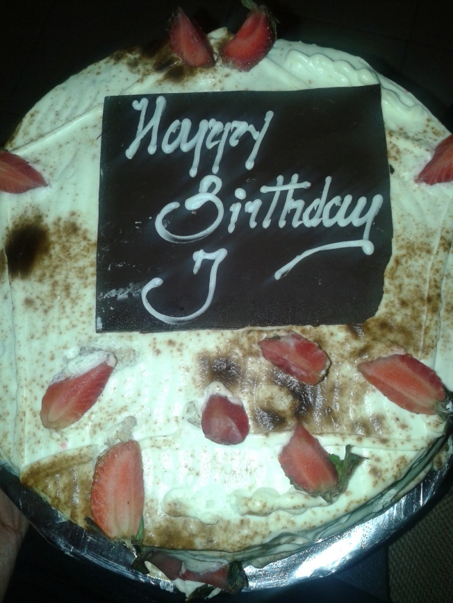 J's fake tiramisu cake from Valentine Cake House