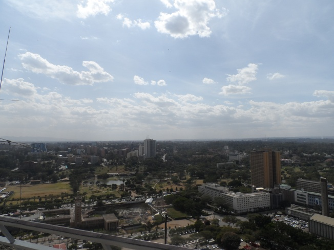 Uhuru Park and some buildings near Uhuru Highway....