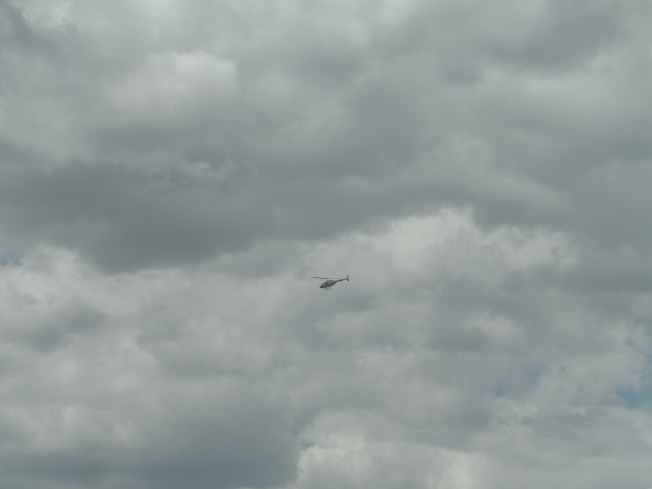 We assumed that this helicopter was ferrying some aspirants to some place to conduct their campaigns.....