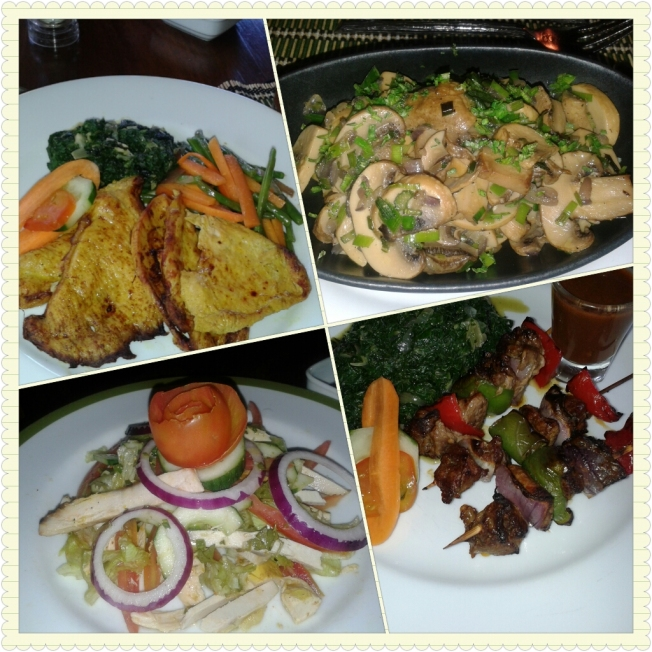 Sample of foods served while at Sarova Shaba