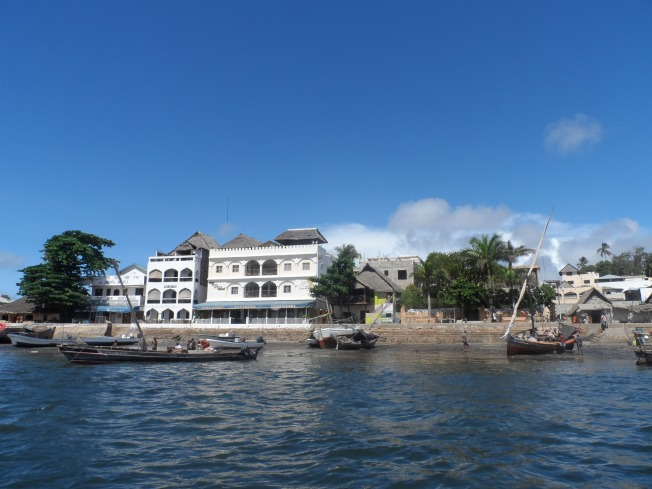 A side view of Lamu Town