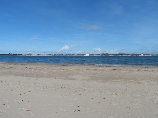 Beach, ocean and Manda Island