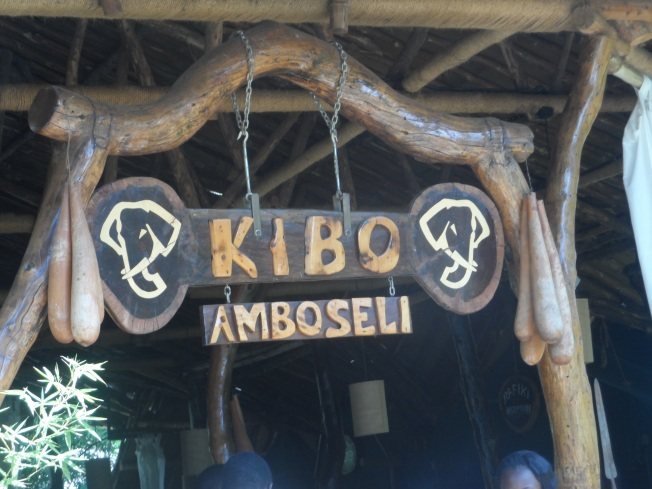 Signage outside Kibo