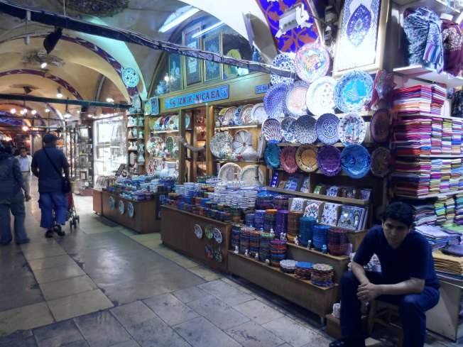 A street inside the most famous (and largest) market in Turkey - Grand Bazaar