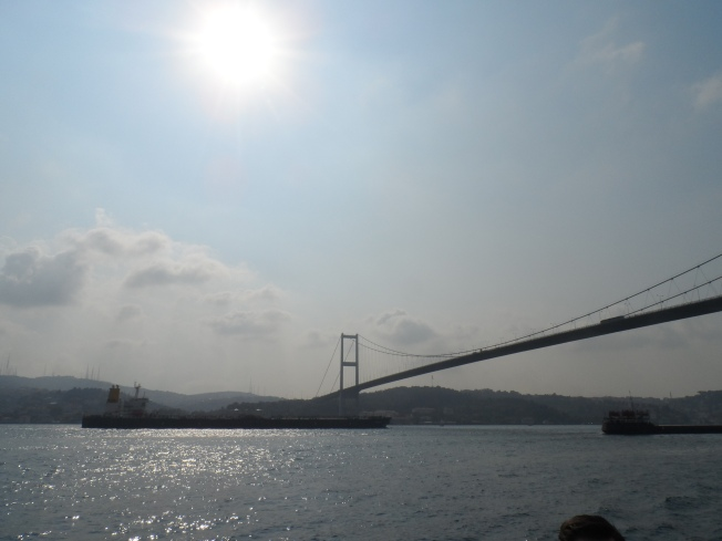 A view of the bridge that connects the Asia continent to the Europe continent