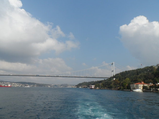A view of the bridge connecting two continents