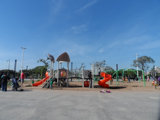 The public playground in Durban near Moses Mabhida Stadium. Such a great initiative - having a public playground with great amenities that are provided for free. There were people riding bikes, skating, running and basically just having fun.