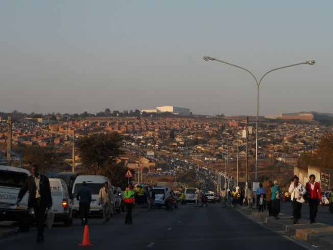 An overview of Alexandria township in Capetown. Reminded me of Kenya!