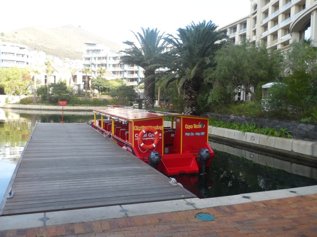 The 'Red Bus' boat. The boat that takes one around the canal