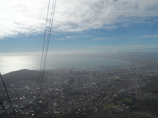 A view of Cape Town from the cable car