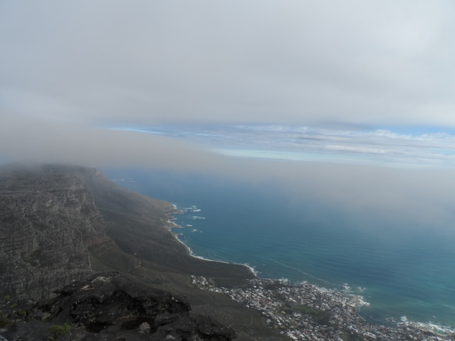 Being in the middle of a cloud and taking a photo is not such a funny experience. Clouds are cold!!