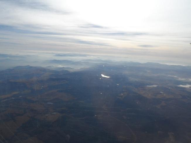 Air space above Durban. Picture taken through dirty plane window.....