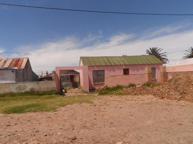 A pink house in the New Brighton township (our equivalent of upper level slum)