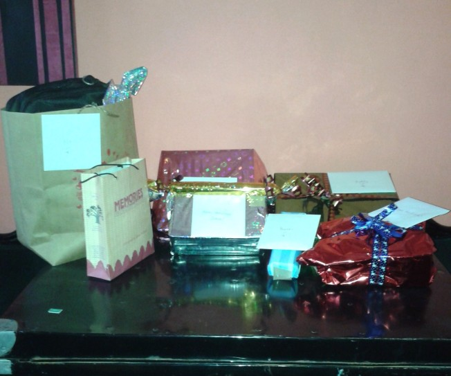 Wrapped up gifts ready for dispatch!