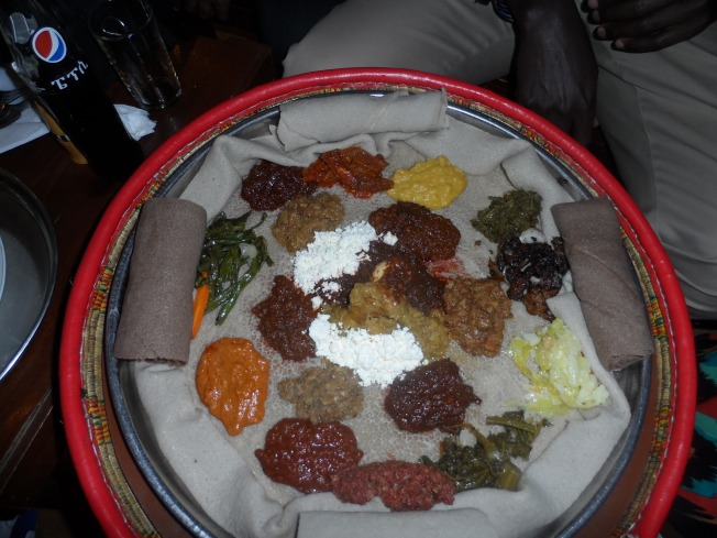Our last meal in Ethiopia at Yod Abysinnia
