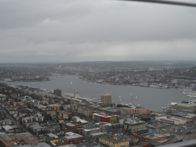 A view of Seattle from the Space Needle