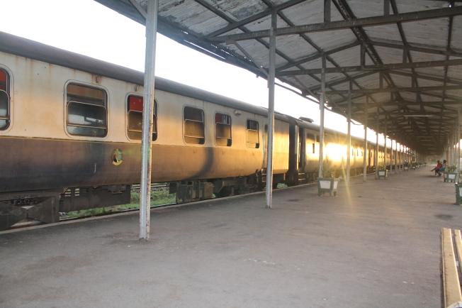 Train waiting to leave Mombasa