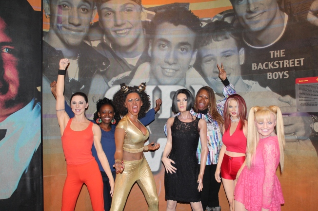 The Spice Girls photo bombing us